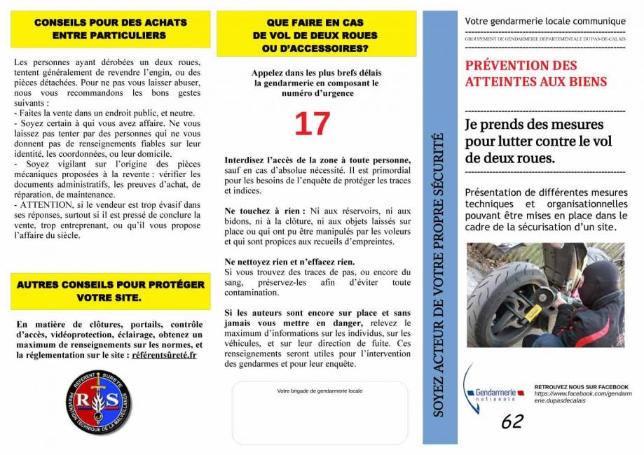 1 prevention vol 2 roues ggd 62