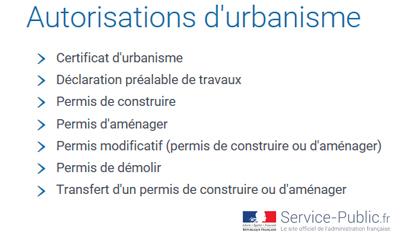 Autorisations urbanisme gouv