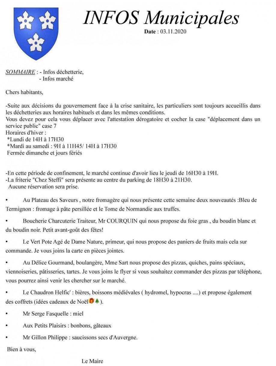 Infos municipales 2