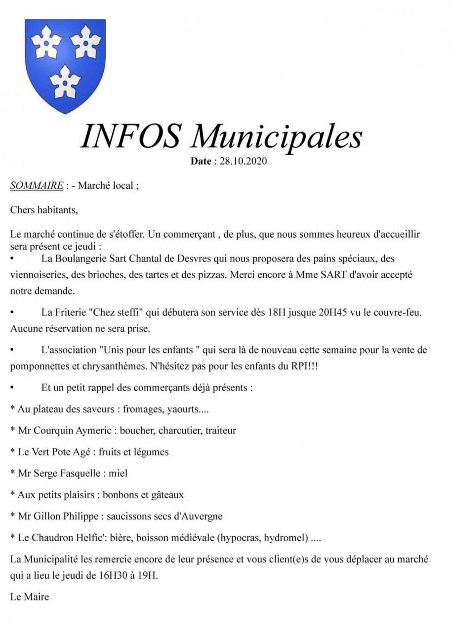 Infos municipales
