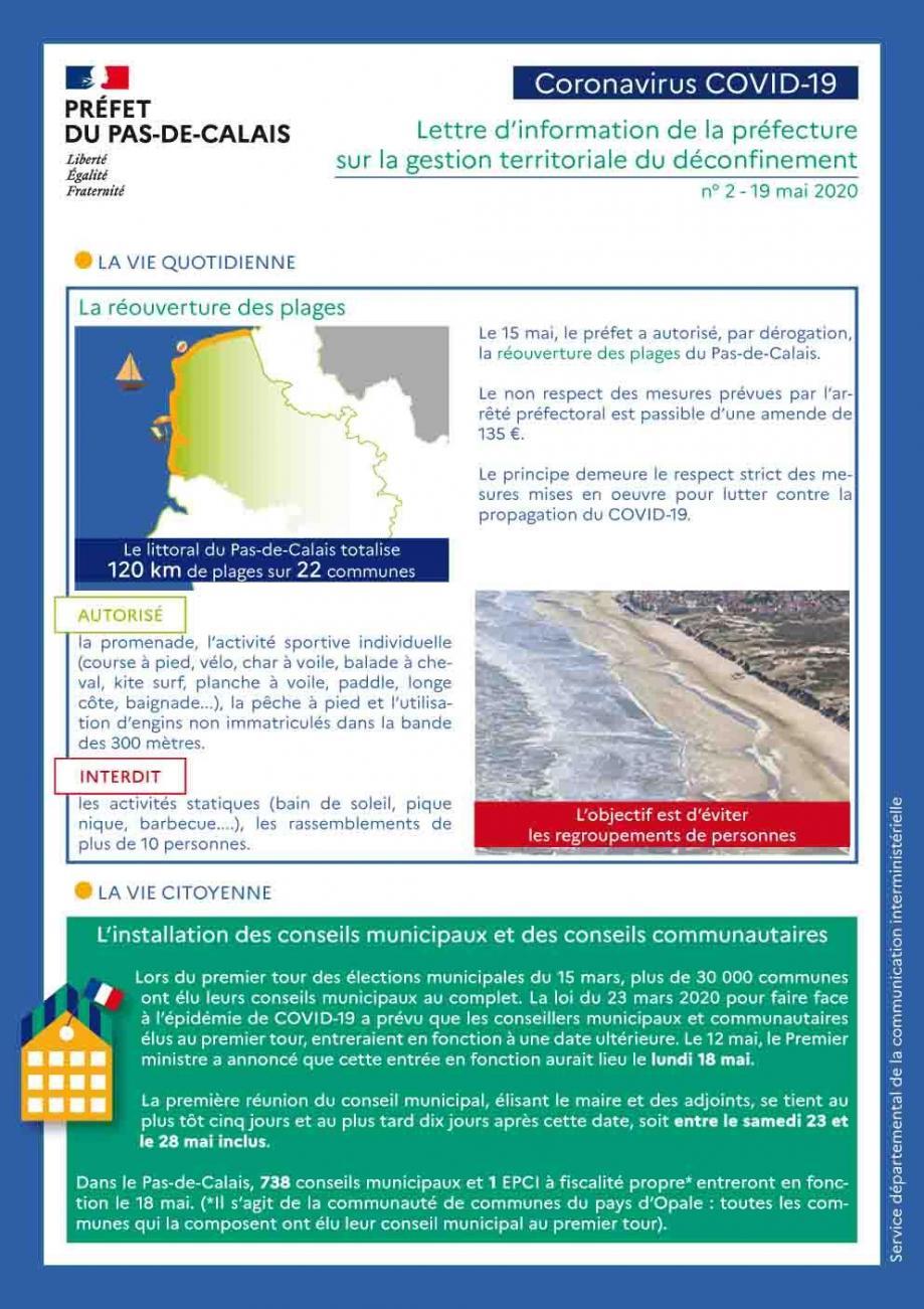 Lettre d information n 2 sur la gestion territoriale du deconfinement 1
