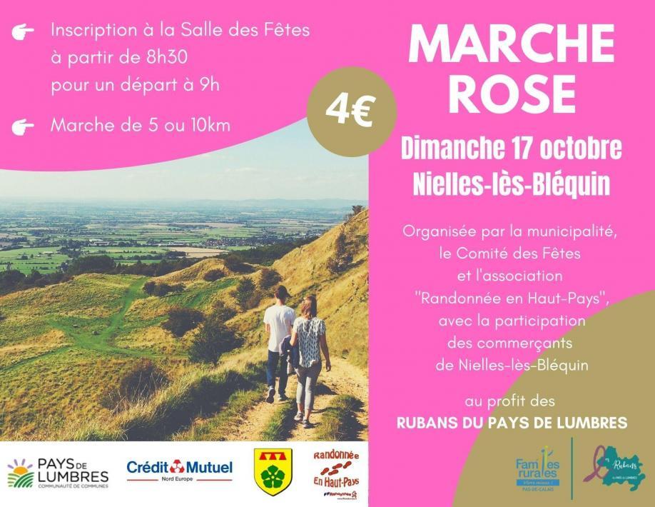 Marche rose nielles