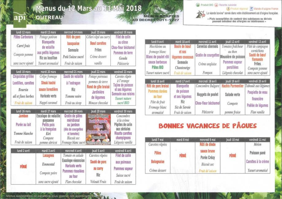 Menu api outreau mars avril 2018